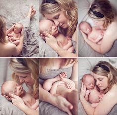 Beautiful family newborn shots