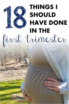 18 Tips on things to do in the first trimester of pregnancy after you find out you're pregnant. Everything from medical advice and creating a will to connecting with your partner. #maternity #pregnancy #expecting