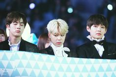 •161119 JIN, JIMIN & TAEHYUNG BTS @ Melon Music Awards    #boysmeetdaesang