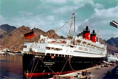 Hanseatic in Tenerife, Canary Islands. Date unknown. Beautiful Ocean, Ways To Travel, Canary Islands, Marines, Cathedral, The Past, America, Clogged Arteries, Cruise Ships