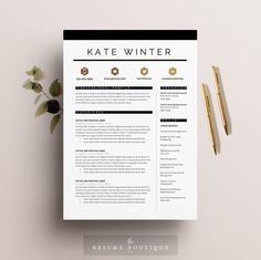 "Resume Template 3pk | CV Template + Cover Letter for MS Word | Instant Digital Download | The ""Parisian"""