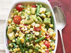 Get this all-star, easy-to-follow Succotash Salad recipe from Katie Lee