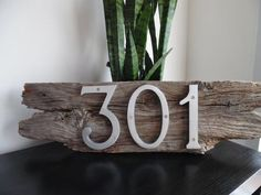 Barn Board House Number - Address Sign - Outdoor/Indoor Wall Decor - Home, Cottage, Cabin, Apartment Plaque: