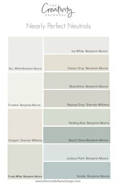 No color is perfect but there are many nearly perfect neutral paint colors that work consistently well and in a variety of lighting situations. interior decor paint colors Nearly Perfect Neutral Paint Colors