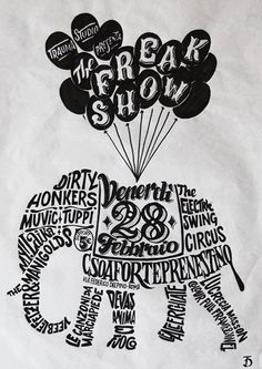 An example of bad content design. While the graphic is cool, I can't easily figure out the information. What time is the event? Are these bands? Variety show? Circus?