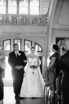Me & my Dad walking down the aisle Photo from Amanda & Mike: Newport Wedding collection by AE Stelzer Photography