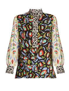 Multi-print georgette blouse | Duro Olowu | MATCHESFASHION.COM UK