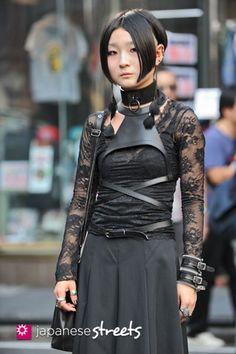 120929-0410 - Japanese street fashion in Harajuku, Tokyo  I am loving her harness!