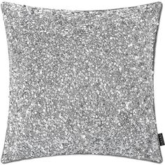 A by Amara Sequined Cushion - 40x40cm - Silver ($58) ❤ liked on Polyvore featuring home, home decor, throw pillows, silver, silver home accessories, silver home decor, light pink throw pillows, pale pink throw pillows and glitter throw pillows