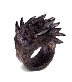 Maud Traon  Spiky Black Ring
