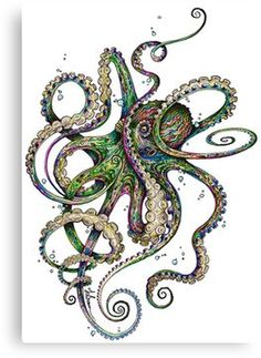 55 Eye Catching octopus Tattoos ideas for Men And Women - Bilder - Octopus Tattoo Design, Octopus Tattoos, Octopus Art, Octopus Tentacles Drawing, Octopus Outline, Octopus Painting, Tattoo Designs, Tattoos Mandala, Tattoos Geometric