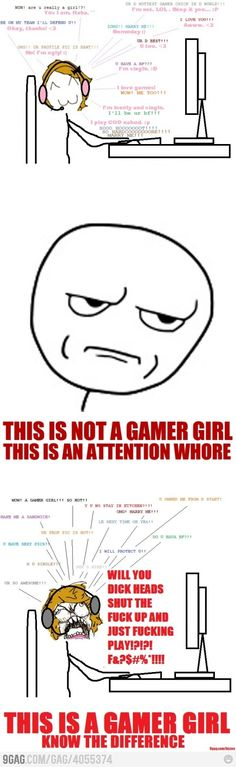 Gamer girls? Know the difference.