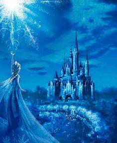 Frozen Photo: Frozen at Disneyland Elsa Castle, Frozen Castle, Princesa Disney Frozen, Disney Frozen Elsa, Disney Art, Disney Movies, Walt Disney, Disney Princess Quotes, Disney Princess Pictures