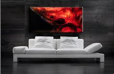 Red, Black on canvas
