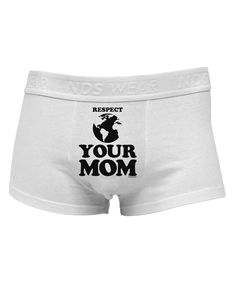 TooLoud Respect Your Mom - Mother Earth Design Mens Cotton Trunk Underwear
