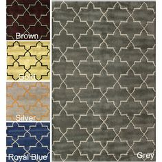 nuLOOM Abstract Handmade Moroccan Trellis Wool Rug (5' x 8') | Overstock.com Shopping - Great Deals on Nuloom 5x8 - 6x9 Rugs