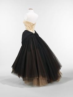 """""""Swan"""" Charles James, 1951, silk/synthetic, synthetic Dimensions: Length at CB: 60 in. (152.4 cm)"""