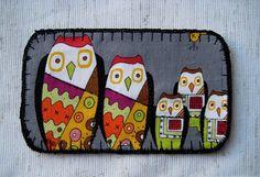 Owl Friends Applique Patch