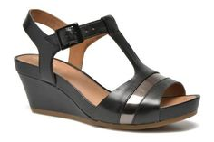 Clarks Women& Leisure Clarks Rusty Rebel Leather Sandals In Black Size 37 - . Rebel, Black Leather Sandals, Fashion Sandals, Wedges, Lady, Accessories, Shoes, Clothes, Black Leather