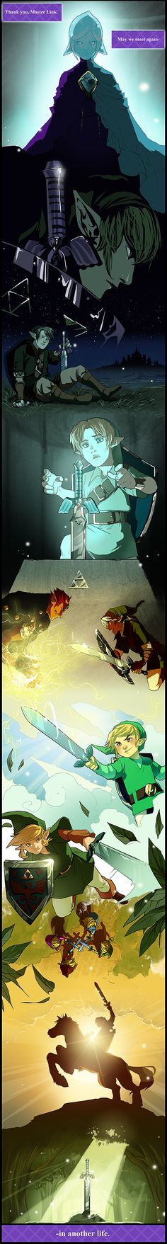 """""""Thank you, Master Link. May we meet again in another life."""" - Fi (Spirit of the Master Sword) The Legend of Zelda; fan art"""