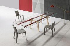 Tracks Table par Alain Gilles pour Bonaldo