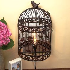 I have an obsession with vintage bird cages and I fell so in love with this cool idea!