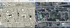 Wellclose Square, Wapping, now and then map