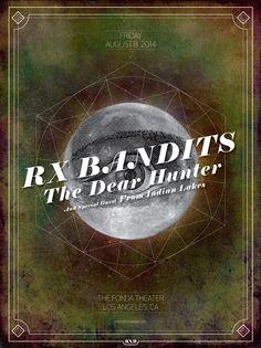 RX Bandits ~ The Fonda ~ Los Angeles #RXBANDITS #RXB #LA #THEFONDA #THEDEARHUNTER #FROMINDIANLAKES #ROCK #MUSIC #POSTER #DESIGN #OVERCOME
