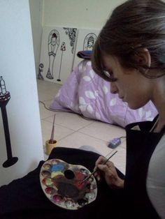 Pintando tela arte - art