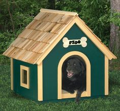 Dog House Wood Project Plan Your dog is going to love this cozy new home complete with windows! #diy #woodcraftpatterns