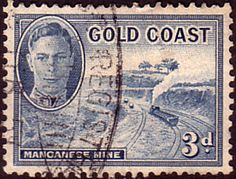 Gold Coast 1948 SG 140 Manganese Mine Fine Used SG 140 Scott 135  Other Commonwealth Stamps here