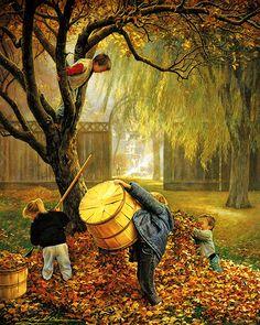 """""""Fall Leaves"""" by Greg Olsen"""