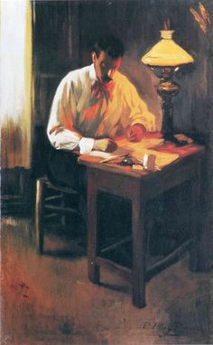 A rare thing, indeed, to see a more representational painting by Picasso!  (Picasso - Portrait of Josep Cardona 1899)