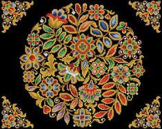 Jewelry vintage cross stitch pattern Antique Tapestry berlin woolwork Digital Format - PDF