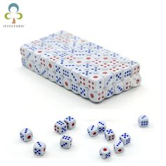 Dice: 100 pcs/lot Standard with Blue and Red Dots Dots Free, Tabletop Games, Red Dots, Credit Cards, Chess, Maze, Card Games, The 100, Puzzle