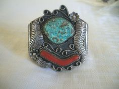 Huge Vintage NAVAJO Sterling TURQUOISE & by TurquoiseKachina