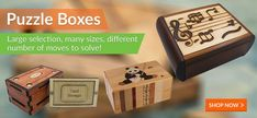 Metal & Wooden Puzzles, Brain Teasers Games for Kids & Adults | Puzzle Boxes, Educational Toys, Money Puzzles & Cube Puzzles