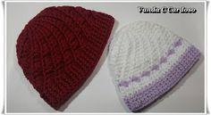 Quer aprender esse lindo modelo de gorro em crochê, confira postagem no Blog.