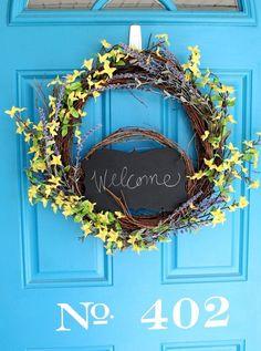 forsythia lavender spring wreath, crafts, how to, seasonal holiday decor, wreaths