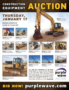 Purple Wave Auction (@purplewave) on Twitter Heavy Duty Trucks, Used Equipment, Used Trucks, Sale Promotion, Online Marketing, Tractors, Online Business, Auction, Waves