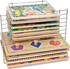 Quality jigsaw puzzles (like those by Melissa and Doug) will last forever if you store them properly.