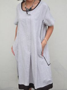 Rustling In The Wind/two pocket concise dress/12 colors/custom made