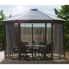 Carolina 12.5 ft. x 12.5 ft. Hard Top Gazebo