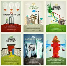 Urban Omnibus, the always-insightful online project of the Architectural League of New York, is making available a special poster series, called 50 Ideas for the New City, modeled on a poster series that debuted around town earlier this year.