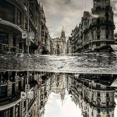 Madrid, Spain  I Travel The World To Photograph The Parallel Worlds Of Puddles With My Smartphone