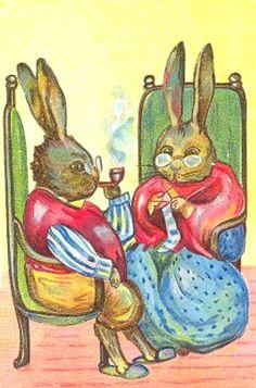 RabbitsKnitting2B.jpg (373×565)