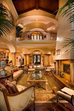 Luxury Homes Interior Designs With Elegant Furniture And Archway With Pilars And Indoor Plants , Grandeur Luxury Homes Interior Designs In Home Design and Decor Category Beautiful Interiors, Beautiful Homes, Home Interior Design, Interior And Exterior, Luxury Interior, Mansion Interior, Room Interior, Mansion Rooms, Modern Interior