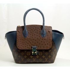 Louis Vuitton Blue Majestueux PM Exotic tote
