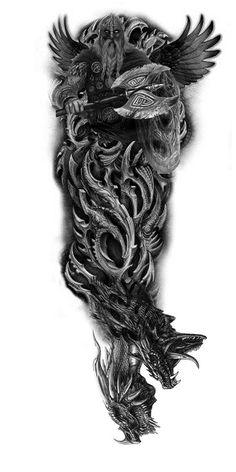 Tattoo Sleeve Designs Viking 66 Best Ideas - Tattoo Sleeve Designs Viking 66 Best Ideas You are in the right place about Tattoo Sleeve De - Viking Tattoo Sleeve, Norse Tattoo, Arm Sleeve Tattoos, Celtic Tattoos, Arm Tattoo, Compass Tattoo, Warrior Tattoo Sleeve, Thai Tattoo, Tattoo Hand