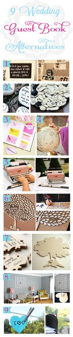 9 great guest book alternatives!  Love #1!